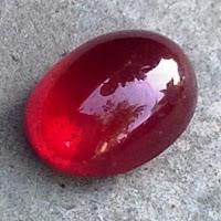 biasa disebut batu permata merah delima warna red merah dimensi batu