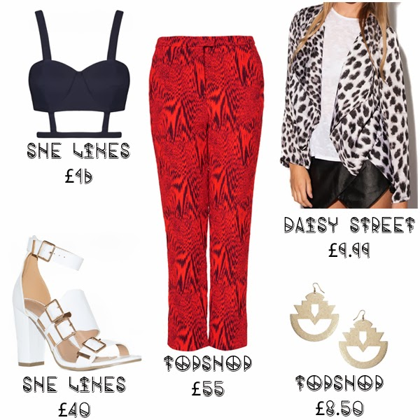 Steal Her Style Solange Knowles Fashion SheLikes Daisy Street Topshop Red Trousers croptop blog aliceadoresapparel tailoring what she wore get the look