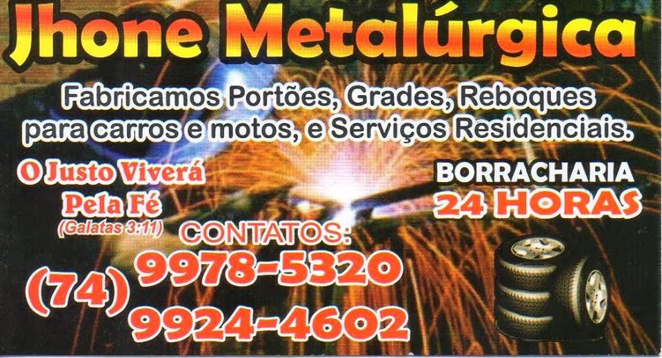 Várzea do Poço: Jhone Metalúrgica