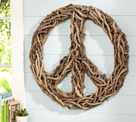 Diy Drift Wood Peace Sign Tutorial Coastal Decor Ideas