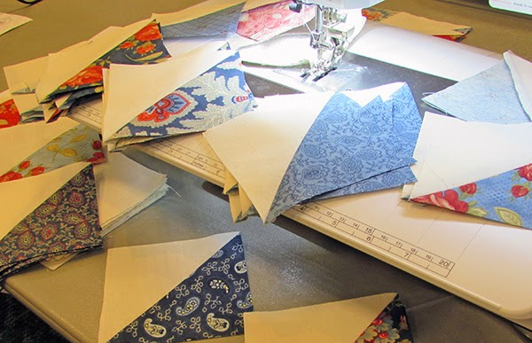 half square triangles for Chopped Quilt Pattern