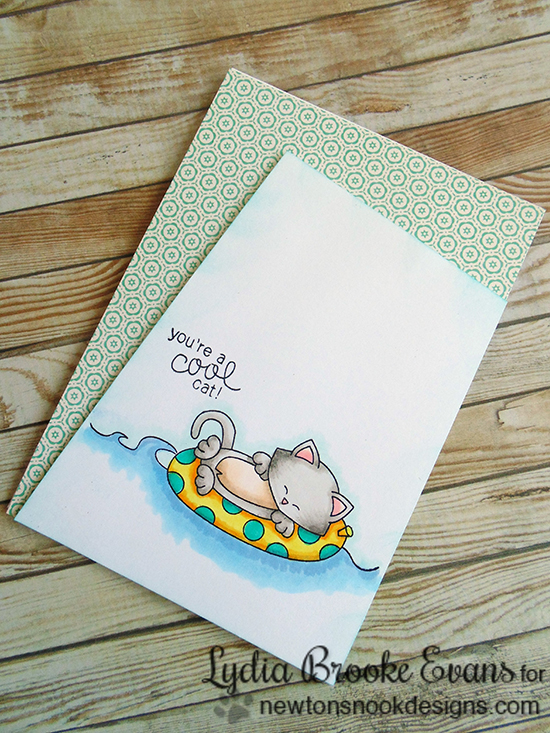 Cool Cat Beach card by Lydia Brooke for Newton's Nook Designs |  Newton's Summer Vacation Stamp Set