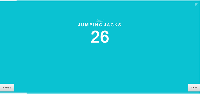 It counts how long you should do your Jumping Jacks!