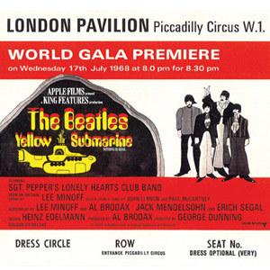 La película «El submarino amarillo» de los Beatles llega en versión digital.