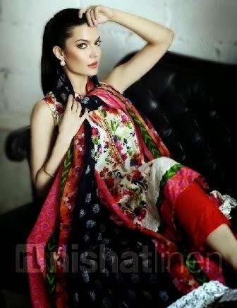 Nishat Linen Printed Lawn Salwar Kameez