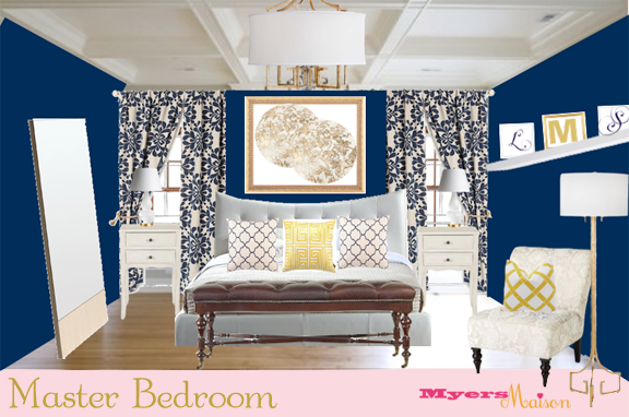 Gallery For Navy Blue And Yellow Bedroom Ideas