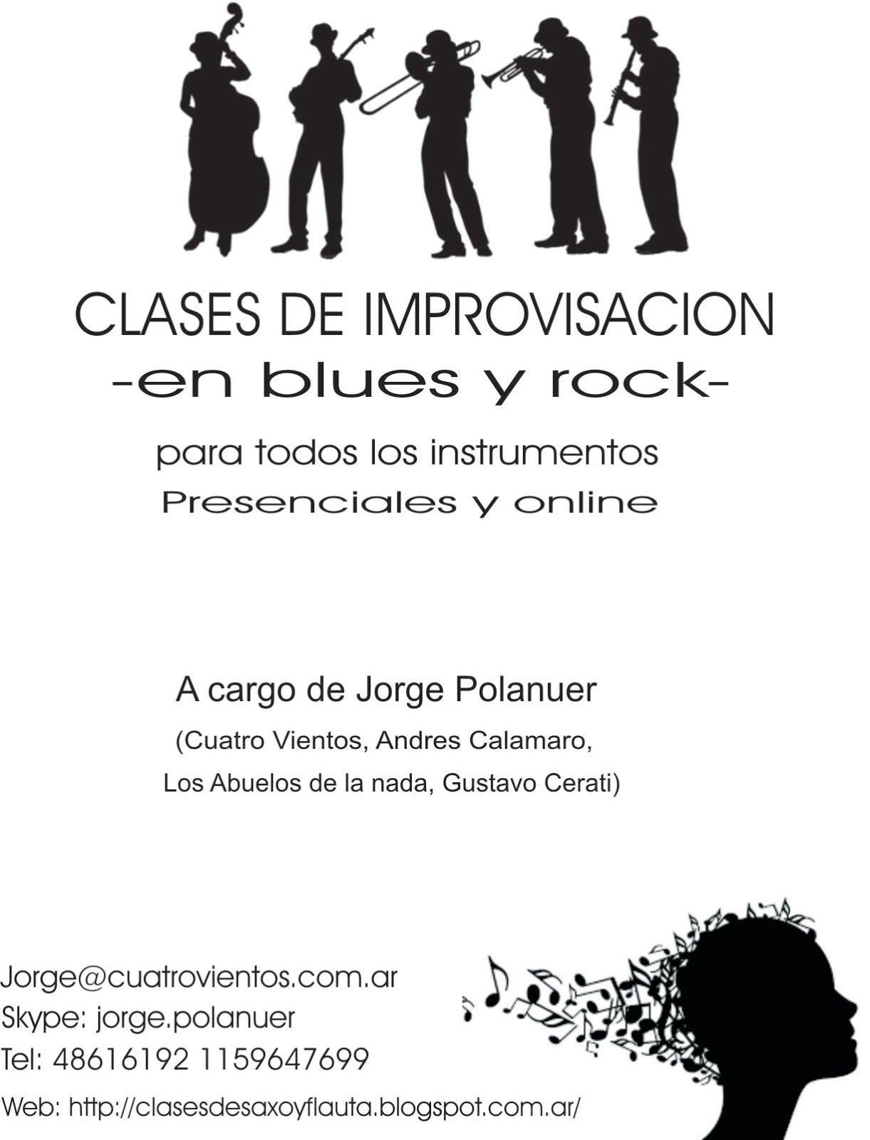 Improvisación blues rock
