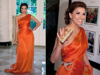 imagens de vestidos laranja