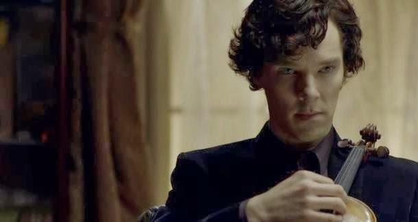 Benedict Cumberbatch en una de las escenas de Sherlock en la BBC