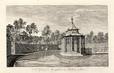 A view of the menagerie and its pavilion at Kew