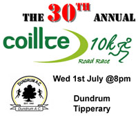 Fast flat 10k course in Tipp...Wed 1st July