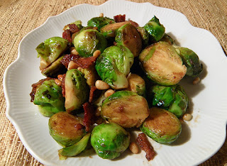 Plate of Warm Brussels Sprout Salad