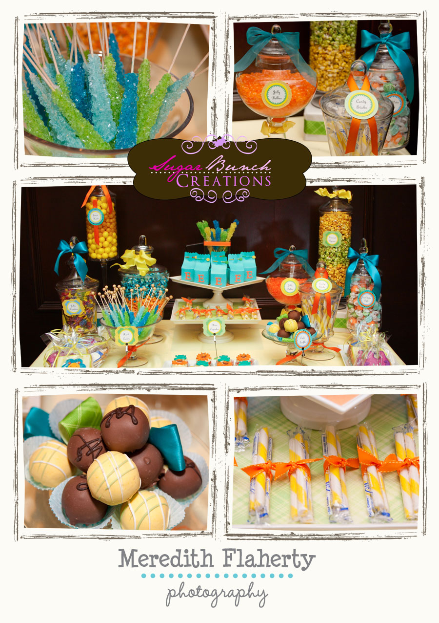 Baby Shower Safari Themed Candy Buffet that is sure to brighten up ...