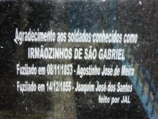 Capela dos Fuzilados, em São Gabriel