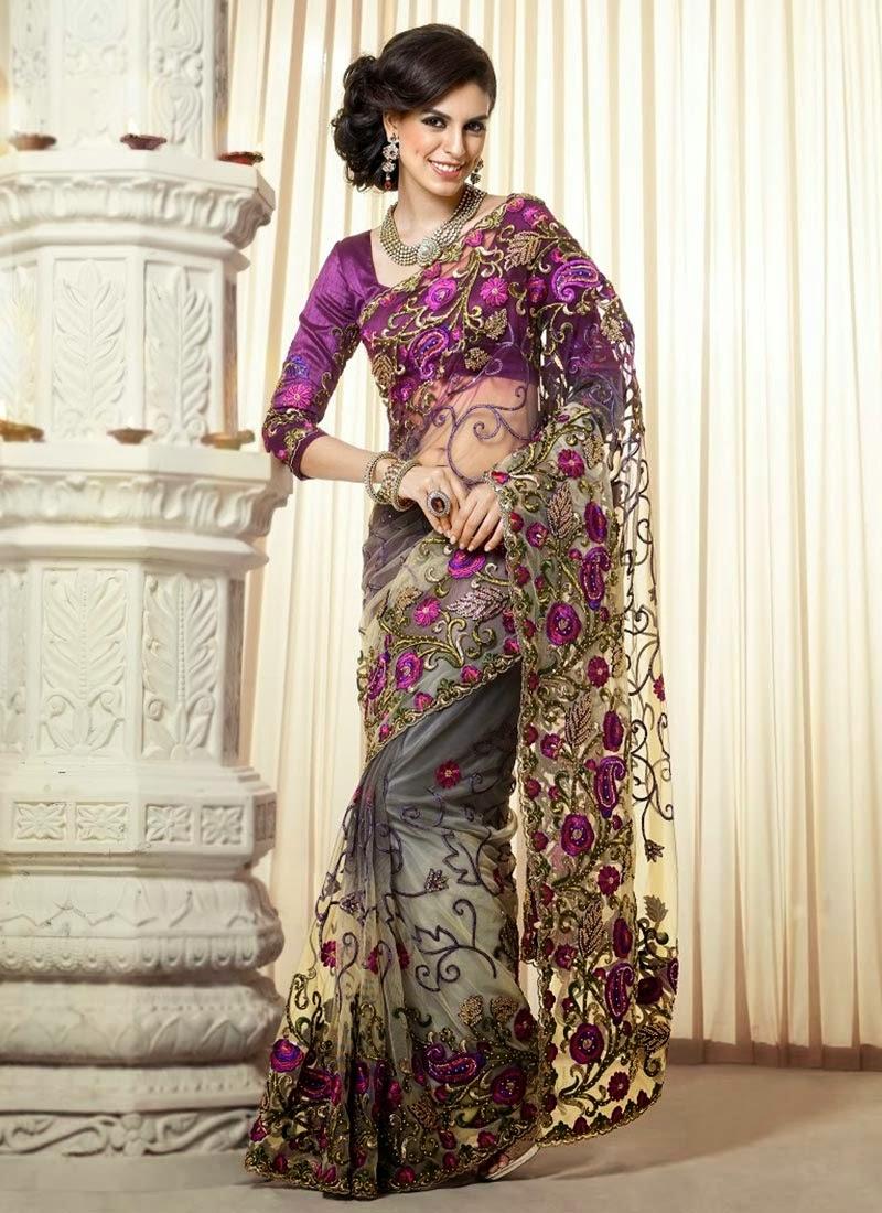Bollywood Style Designer Net Lehenga Sarees
