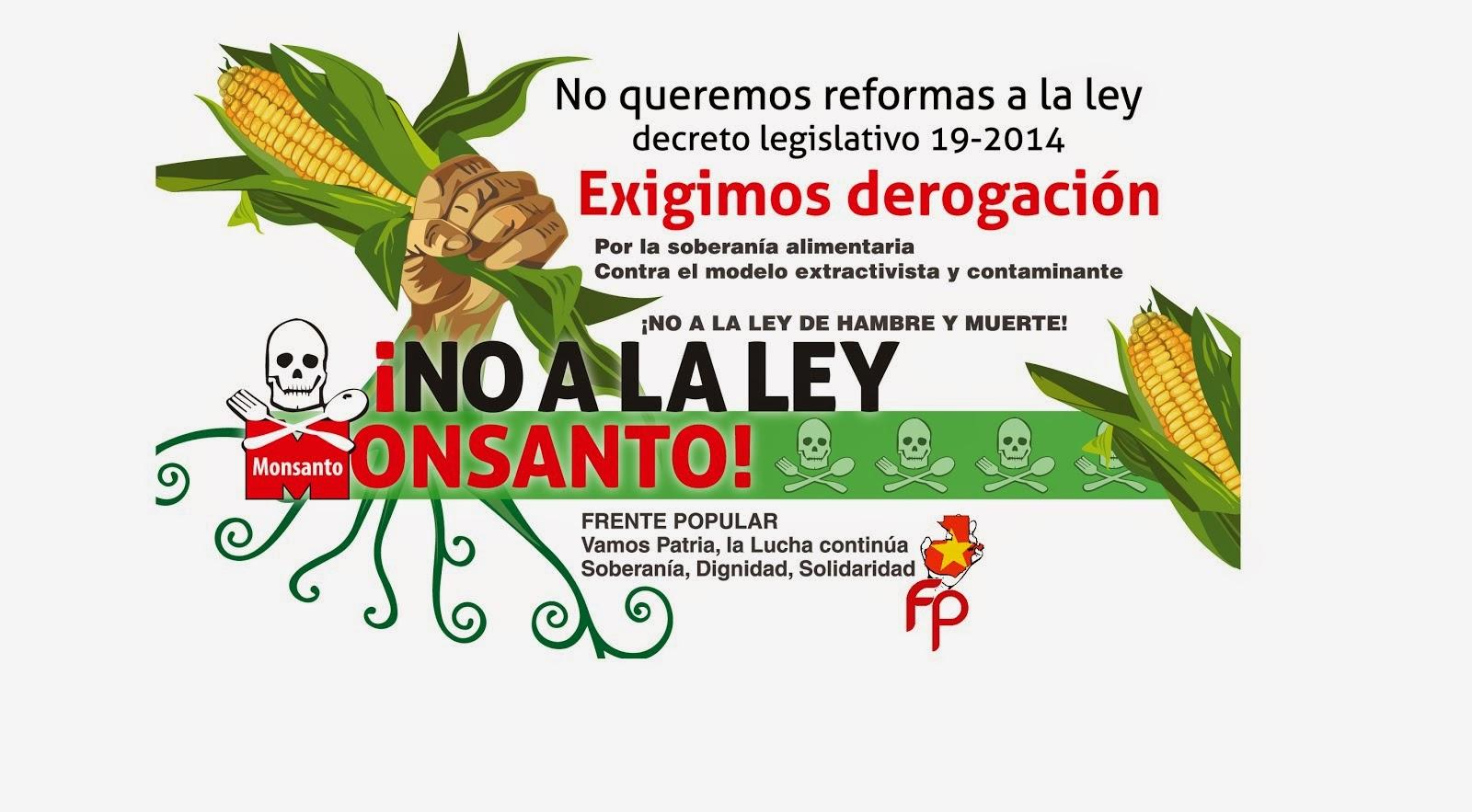 TODAS Y TODOS CONTRA LA LEY MONSANTO