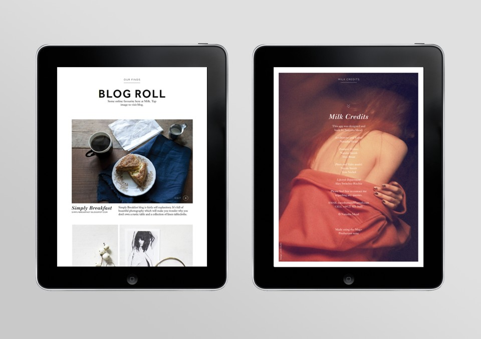 Milk Design Magazine Milk is an Ipad Magazine