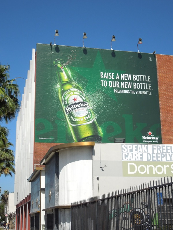 new star bottle Heineken billboard