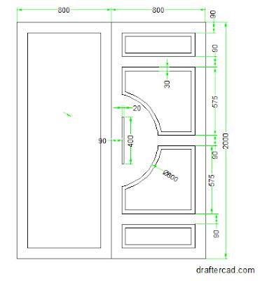langkah 10 - buat rectangle sebagai handle