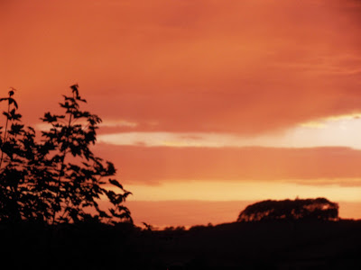 Sunset in Tawstock Devon