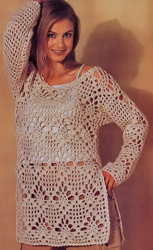 Free Crochet Tunic Pattern For Beginners : Crochet Sweaters: Crochet - Crochet Tunic