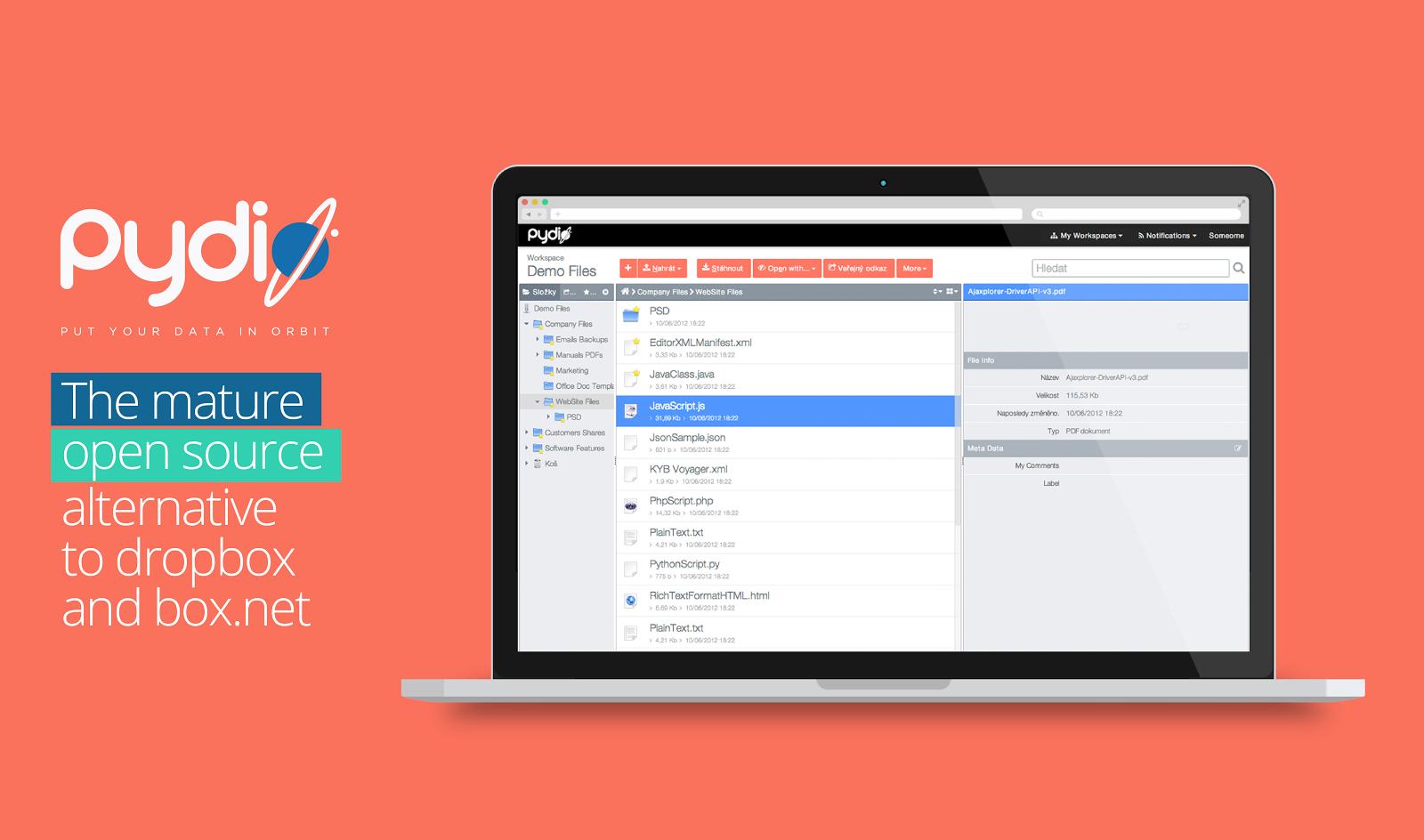 Pydio la alternativa gratuita (código abierto) a Dropbox para empresas