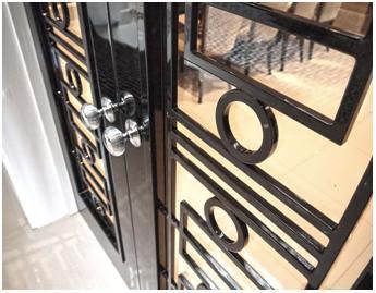 Ironmongery on doors