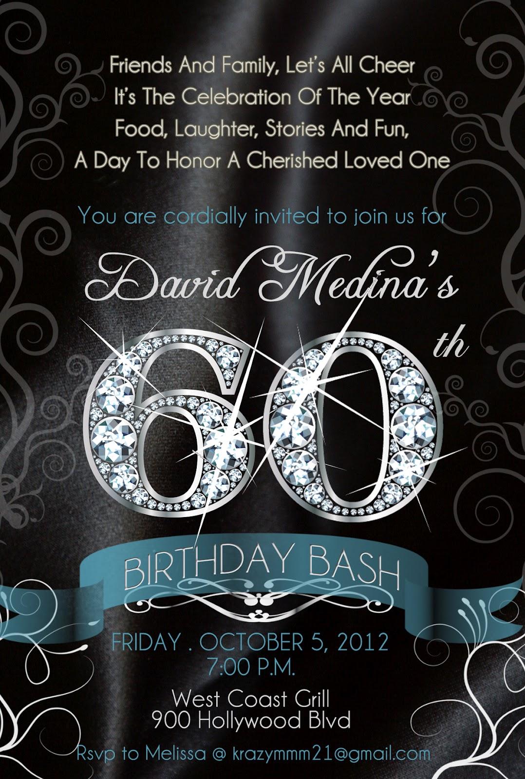 BLING Diamond Numbers Birthday Invitations