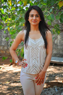 Actress Aksha Pardasany Latest Pictures in White Jeans at Dr Saleem Success Meet  009