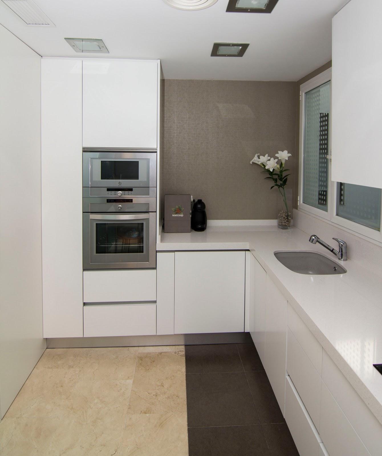 Nivel diez cocina abierta al sal n - Cocinas con electrodomesticos blancos ...