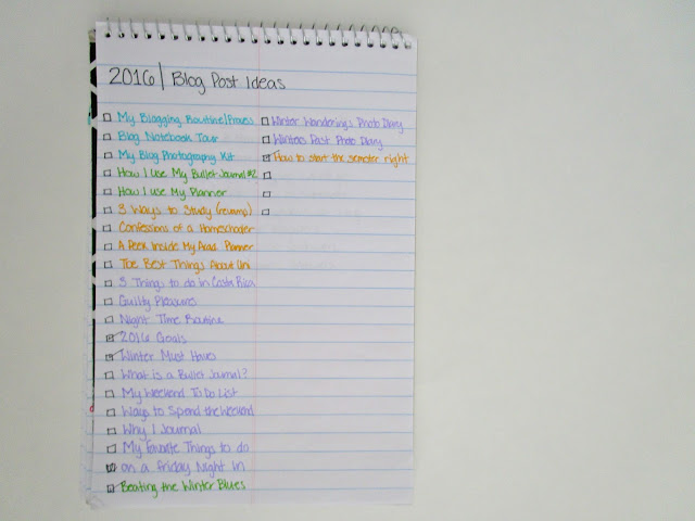 Blog Notebook Tour | How I use my blog notebook and what I keep in it. from Courtney's Little Things