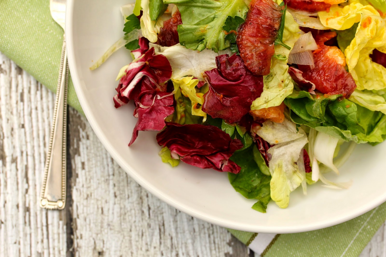 Blood Orange, Butter Lettuce, Radicchio, and Endive Salad with Fennel
