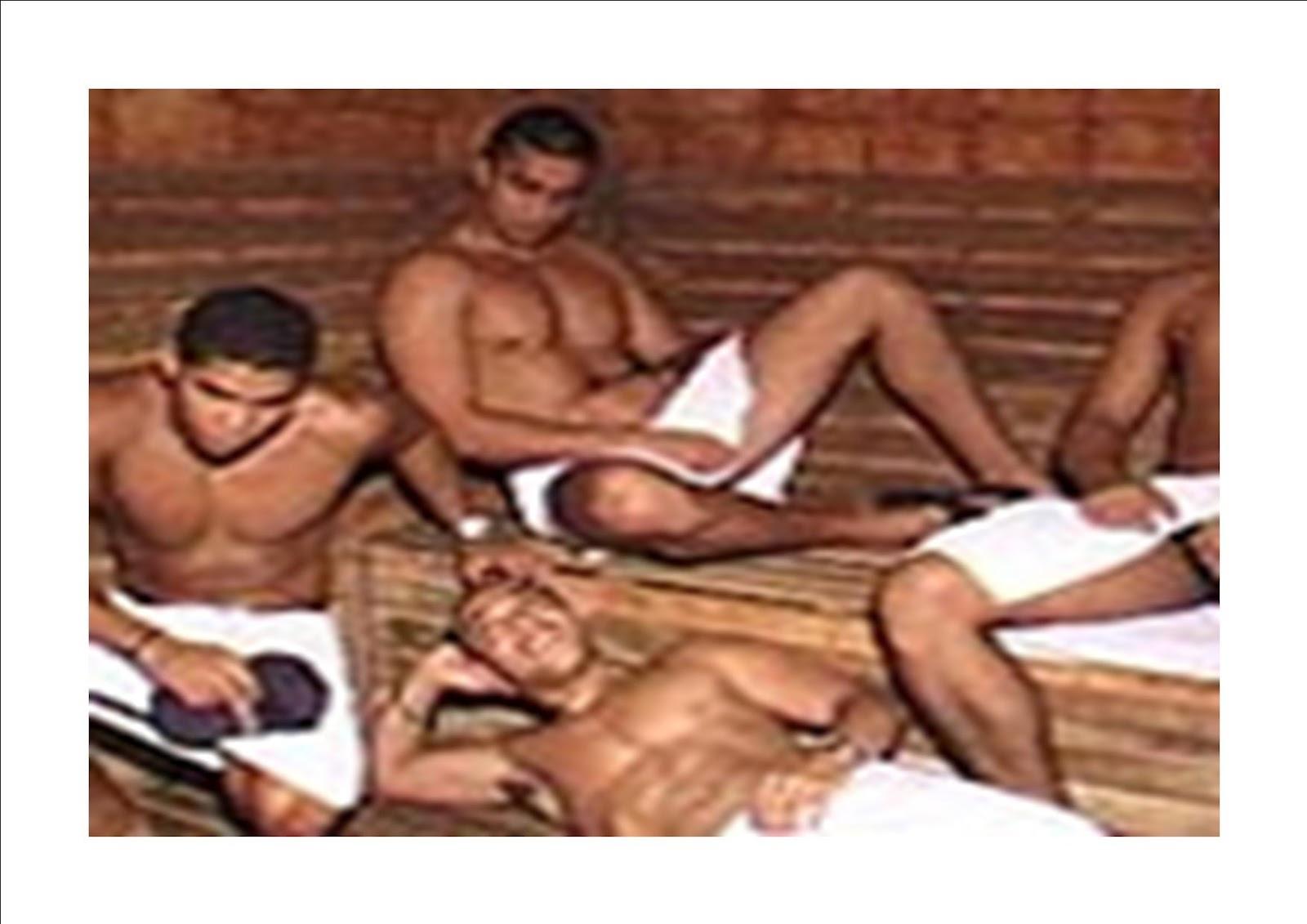 gay studs in sauna