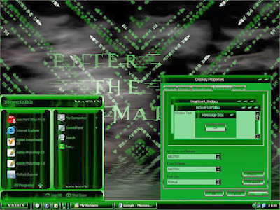 Cool Matrix Theme For Windows XP Download Free
