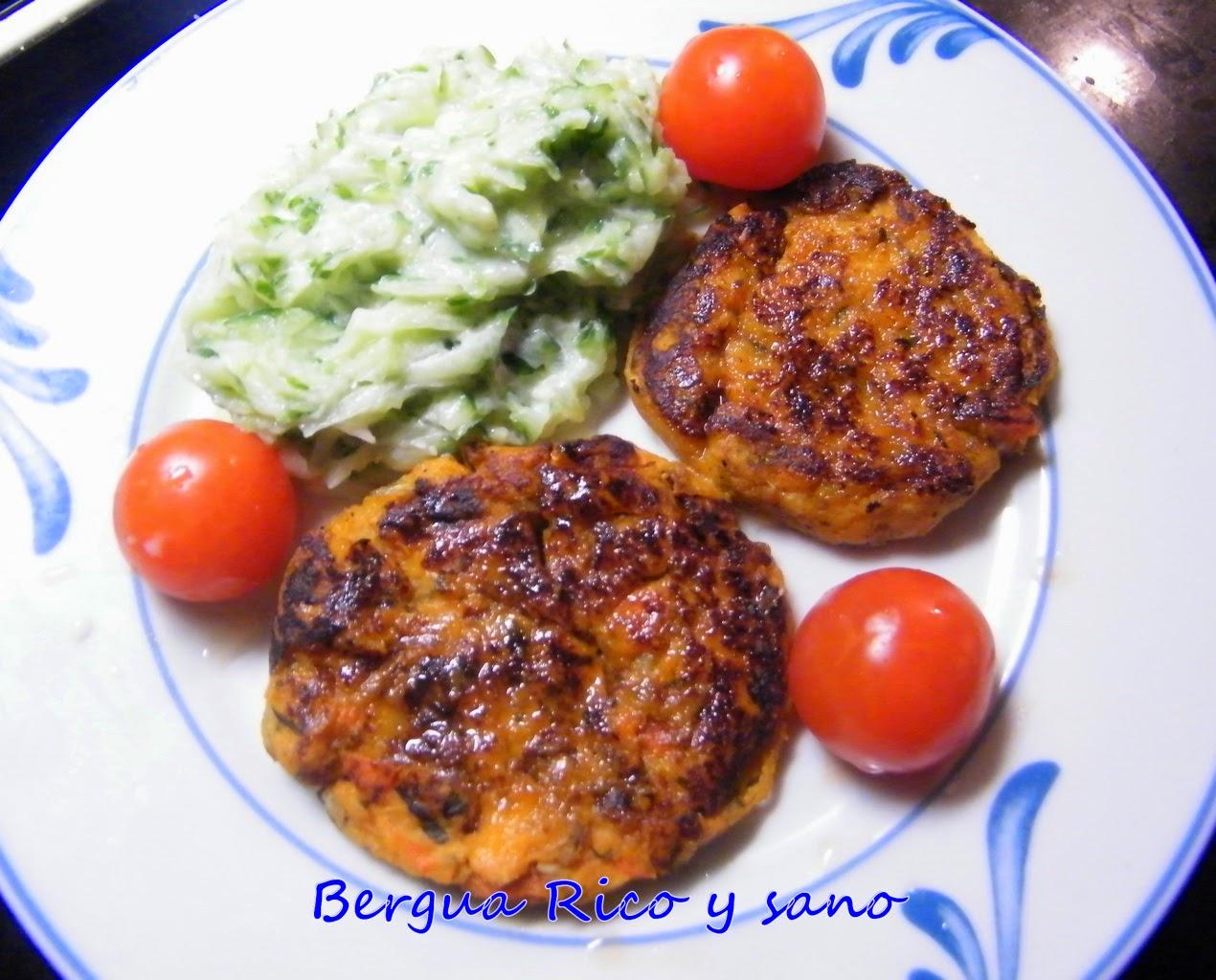 Comer rico y sano hamburguesas de boniato y miel - Hamburguesas vegetarianas caseras ...