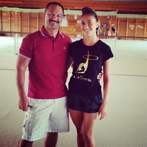 Natalia junto a Shamil Djafaroff
