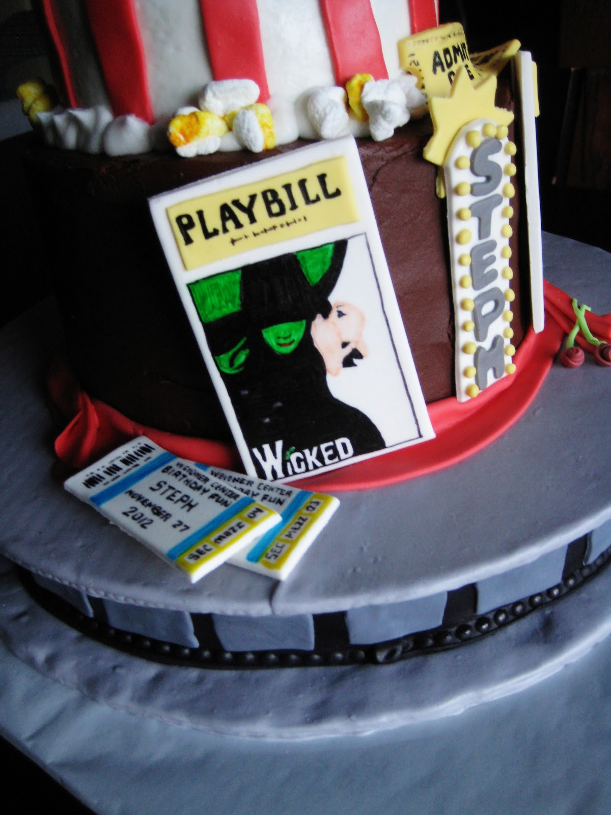 Broadway Themed Cake Toppers