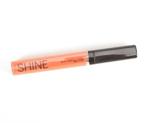 Maybelline Shine 110 Coral heat persikinis lūpų blizgesys