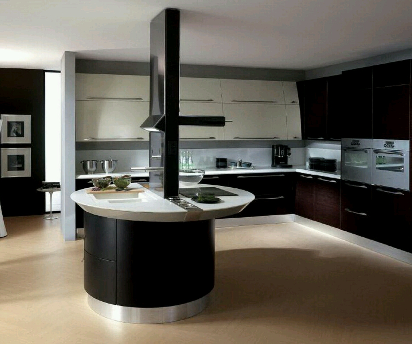 Modern kitchen cabinet design for Luxury modern kitchen