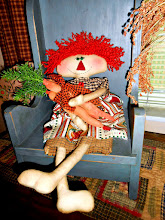 PRIMITIVE LONG LEGS LIZZIE &amp; HER CARROTS