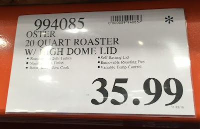 Deal for the Oster Stainless Steel Self-Basting Roaster Oven at Costco