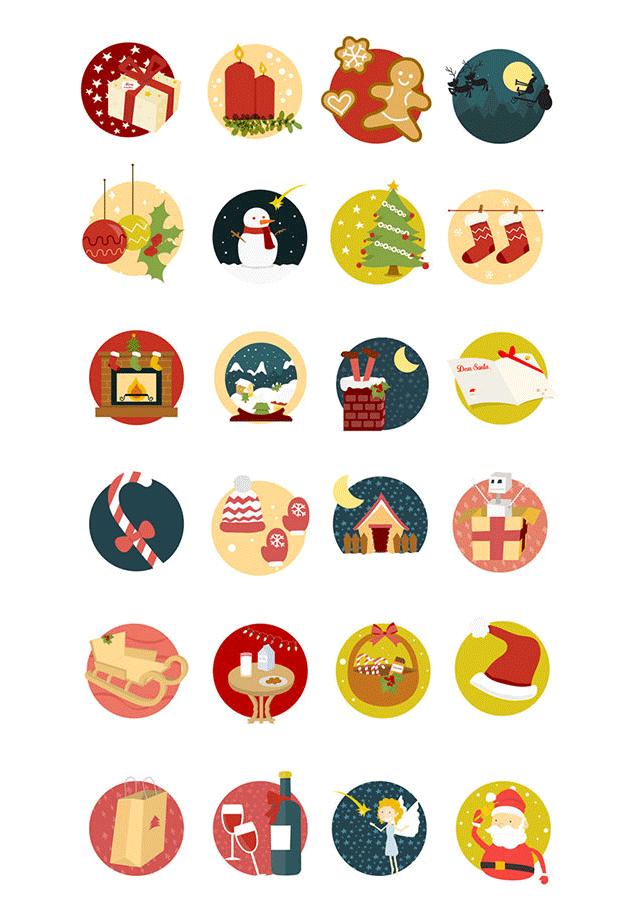 可愛いイラストアイコンが合計24種類