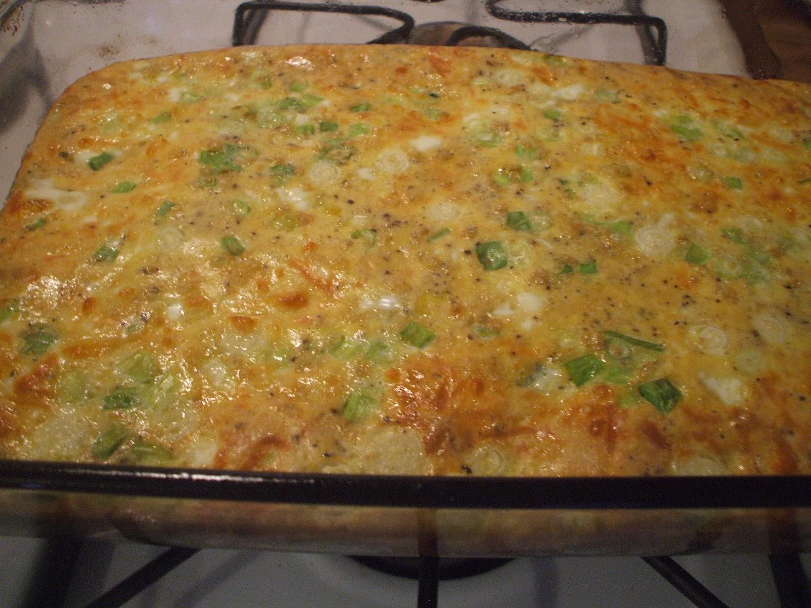 Gray Cardigan: Spinach & Mozzarella Egg Bake