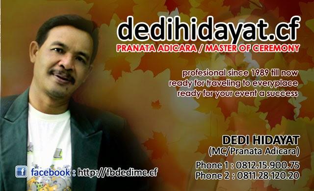 DEDI HIDAYAT MC / Pranata Adicara terbaik Indonesia