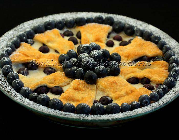 Blueberry Cream Cheese Wreath