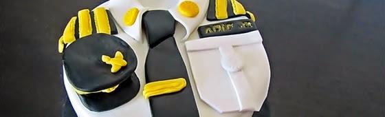 Header picture of pilot uniform cake