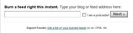 burn a feed