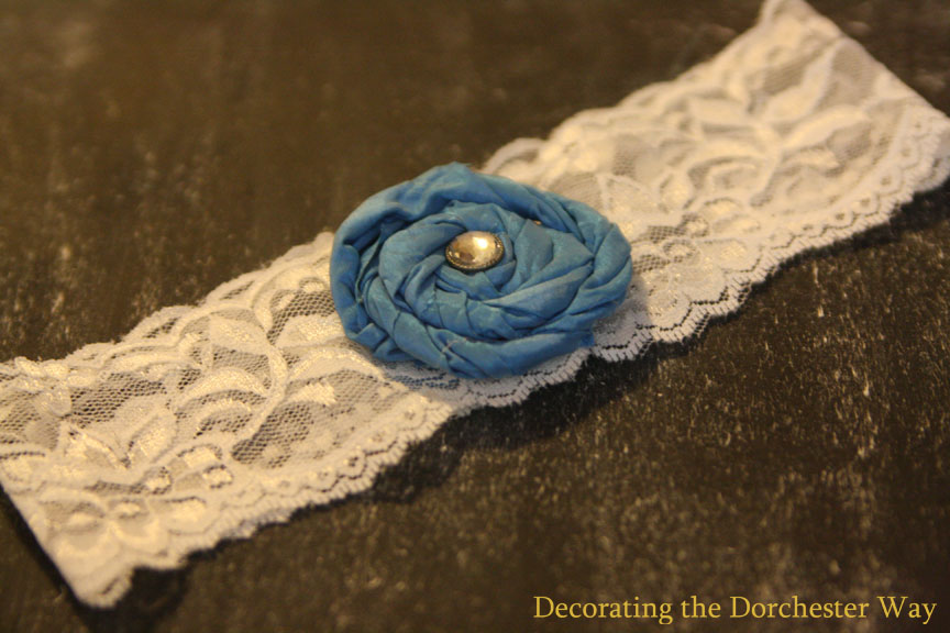 Decorating The Dorchester Way DIY Wedding Garter