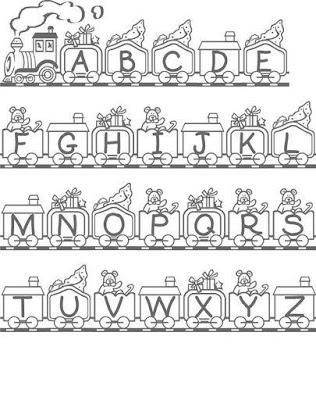Alfabeto com Desenhos - Trenzinho