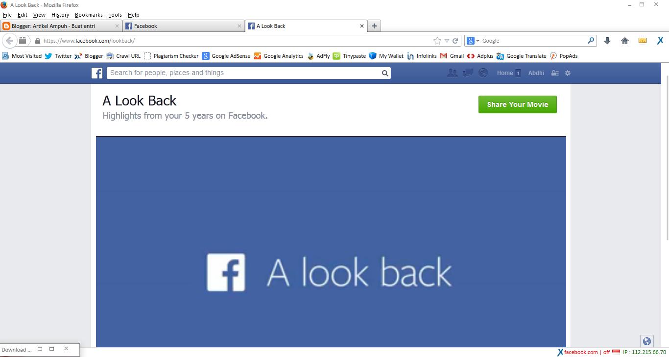 A Look Back Facebook